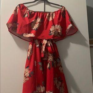 Off the shoulders summer dress